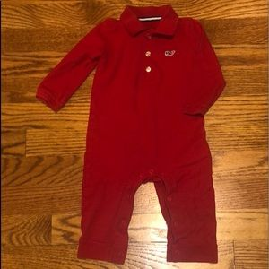 Vineyard Vines Baby polo one-piece red 6-12m